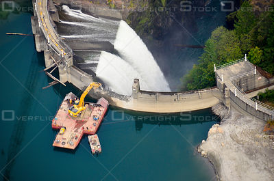 Demolition of Glines Canyon Dam Olympic National Park. Washington State Usa