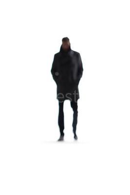 A abstract blurred figure of a man – shot from mid level.
