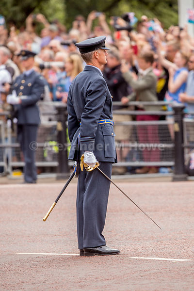 RAF officer in The Mall during the RAF100 celebrations