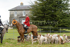 Andrew Osborne at the meet - The Cottesmore Hunt at Grange Farm