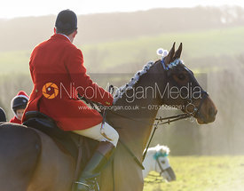 Richard Hunnisett MFH and Sonic - The Cottesmore at Belton 24/12
