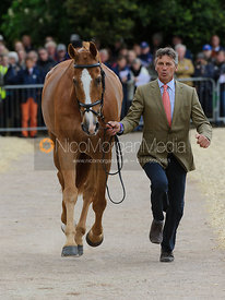 Andrew Nicholson and NEREO - First Horse Inspection, Mitsubishi Motors Badminton Horse Trials 2014