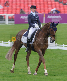 Sandra Auffarth and OPGUN LOUVO - Dressage - Mitsubishi Motors Badminton Horse Trials 2013.