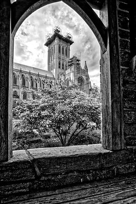 National Cathedral Spire (B&W)- Washington, DC