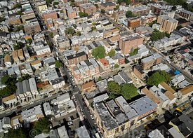 Aerial New Jersey neighborhood