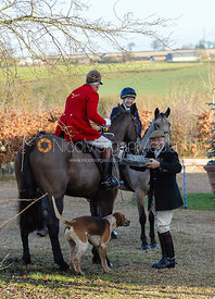 Andrew Osborne, Paul Chenery at the meet - The Cottesmore at Town Park Farm