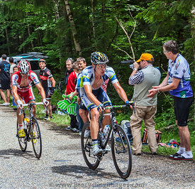 Cyclists Climbing - Tour de France 2012