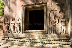 Carvings at Angkor Wat Cambodia