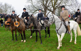 Followers at the meet - The Cottesmore Hunt's Boxing Day meet 2013.