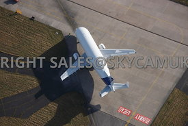 Harwarden aerial photograph of  the Beluga aircraft manufactured by Airbus Industries Harwarden Cheshire