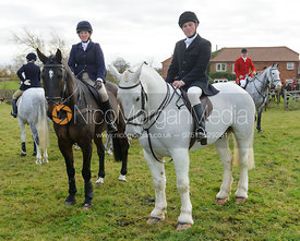 Amanda Green and Paul Gardner at the meet - The Belvoir Hunt at The Wolds Farm 3/12