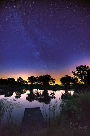 Milky Way over a pond - available to purchase photos
