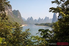Li river with famous karst peaks, Guilin, China
