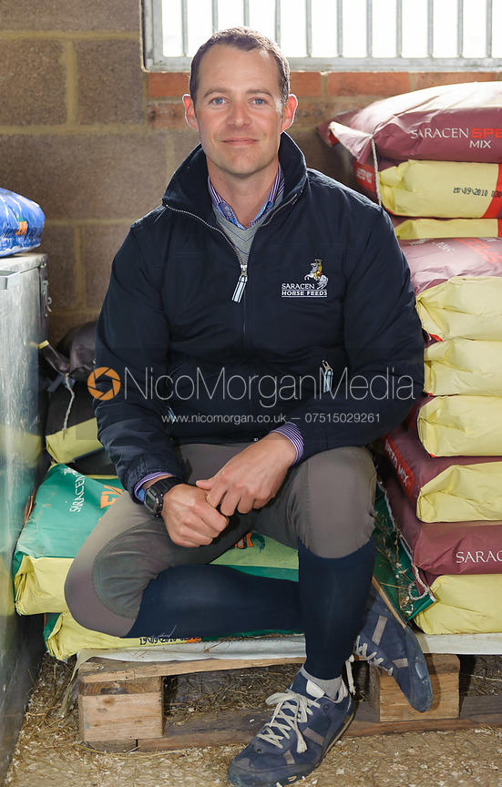 Spencer Wilton with feed bags