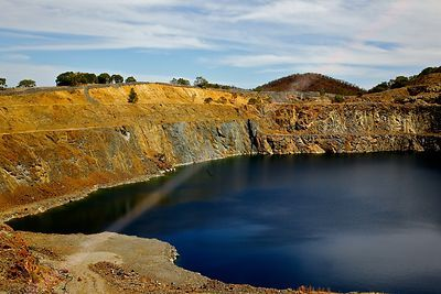 Disused Open Pit Tungsten Mine in Australia