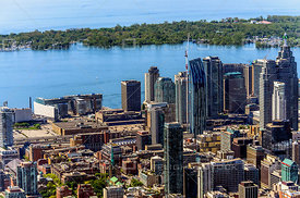 Downtown Core of the City of Toronto with Toronto Island