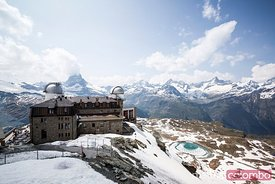 Alpine panorama from Gornergrat, Zermatt, Switzerland