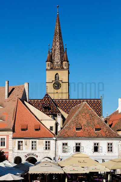 Elevated View of the Protestant Church of the German Saxon Minority
