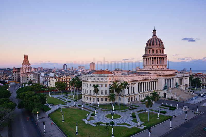 Elevated View of the Capitolio
