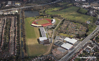 aerial photograph of the Birmingham Alexander Stadium