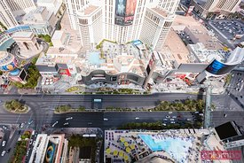 Overhead view of the Strip, Las Vegas, USA