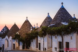 Sunrise over Trulli houses, Alberobello, Apulia, Italy