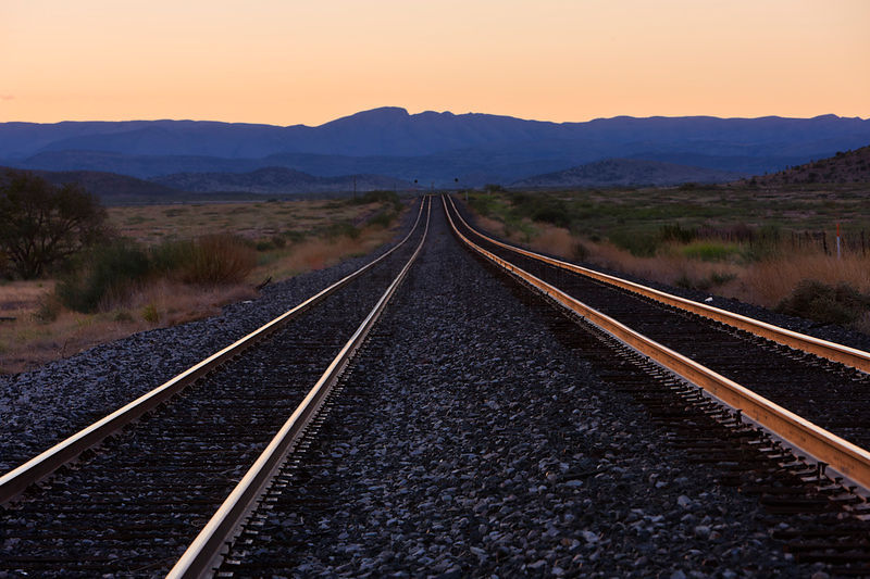 Railroad Lines at Dawn