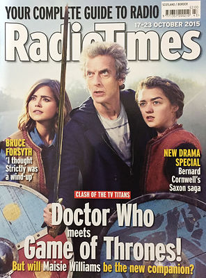 Doctor Who Series 9, Radio Times cover publicity photograph