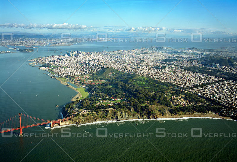 The Presidio of San Francisco  and Golden Gate Bridge California