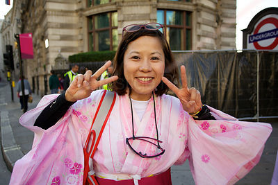 Japanese supporters were out in force at the Paralympic Marathon in London 2012