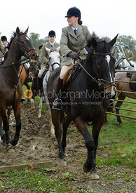 Hunt supporters hunting with the Cottesmore Hunt in Ashwell