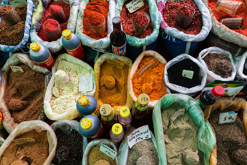 Spices on Sale at the Osh Market