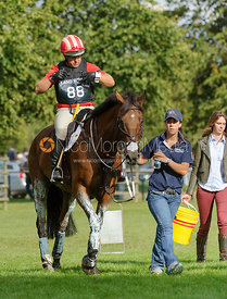 Bruce Davidson and PARK TRADER - cross country phase,  Land Rover Burghley Horse Trials, 7th September 2013.