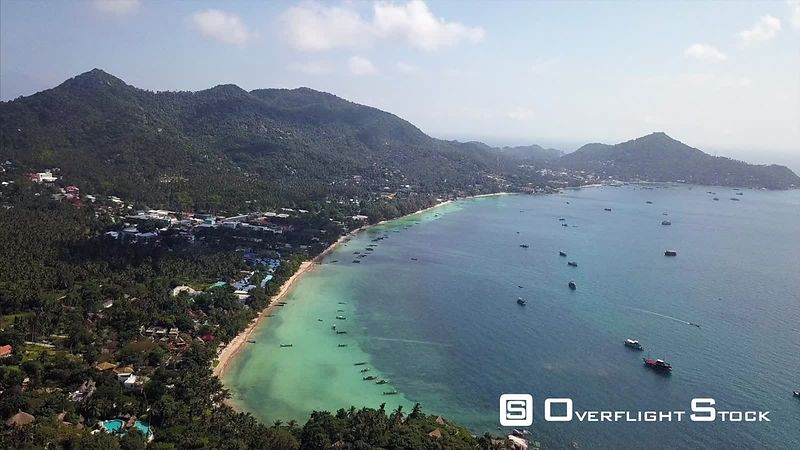 LongTail Tahi Boats and Beach Resort Drone Video Ko Tao, Ko Phangan District, Surat Thani, Thailand