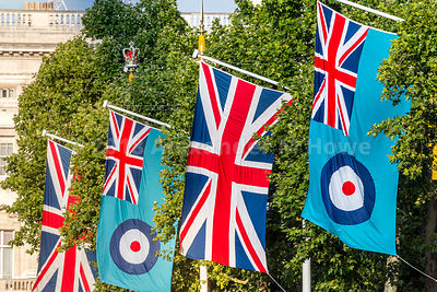 RAF Flags and Union Flags in The Mall