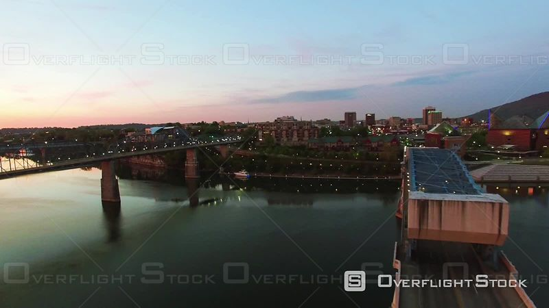 Aerial Sunrise Over Chattanooga Tennessee