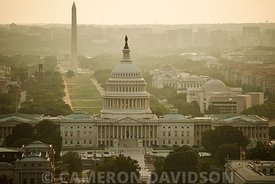 Aerial Photograph of the United States Capitol