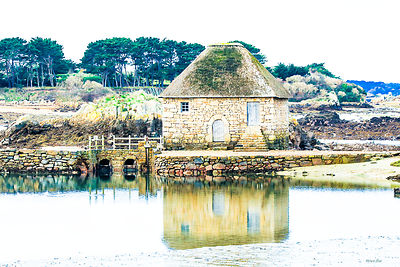 Bréhat Brittany the tide mill