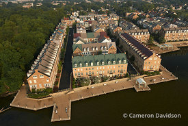 Aerial of Old Town Alexandria
