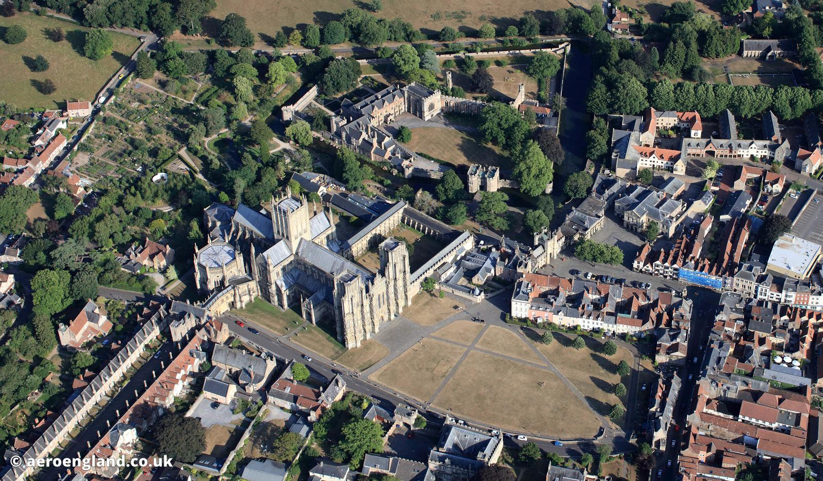 Wells Cathedral & Bishops' Palace aerial photograph
