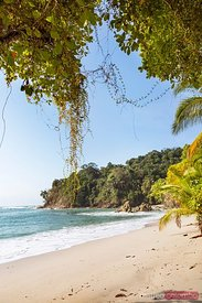 Sandy beach and sea, Manuel Antonio national park, Costa Rica