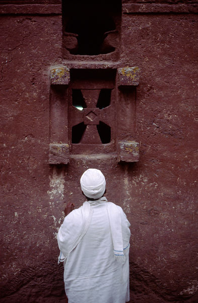Ethiopia - Lalibela - An Ethiopian Monk outside Bet Meskal