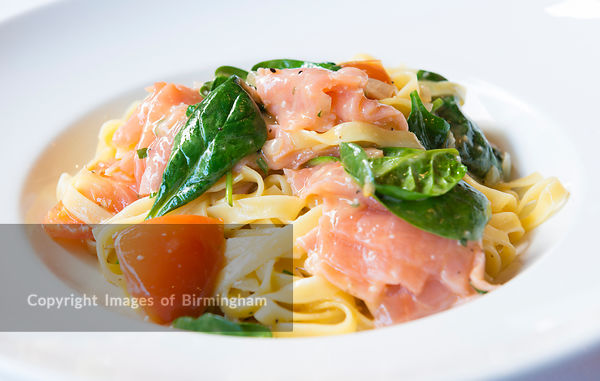 Salmon and pasta dish