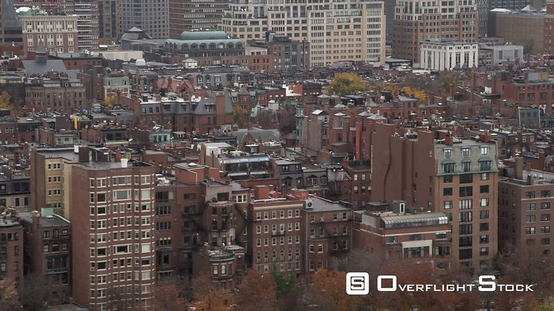 Layered Row Houses in Boston's Back Bay Neighborhood.