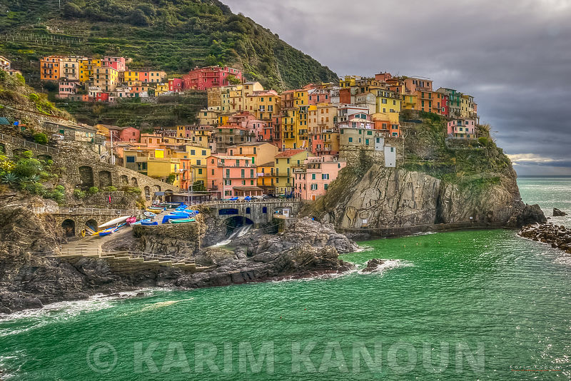 Colorful Manarola architecture Cinque Terre
