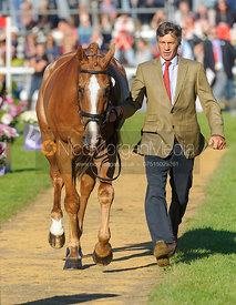 Andrew Nicholson and NEREO - The final vets inspection (trot up),  Land Rover Burghley Horse Trials, 8th September 2013.