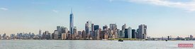 Panoramic of lower Manhattan skyline at daytime, New York, USA