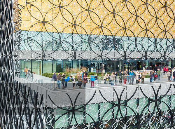 The terrace at the new Library of Birmingham, England.