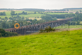 Views of the Harringworth Viaduct, Rutland, England
