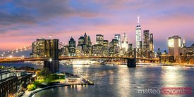 Panoramic of Manhattan skyline, New York, USA